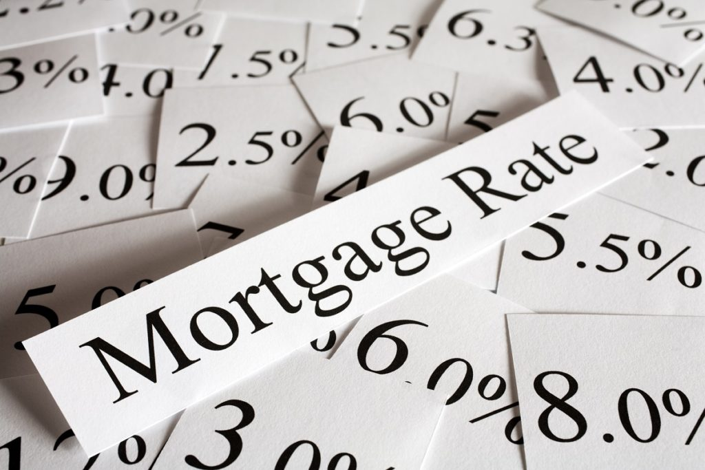 Mortgage interest rate concept