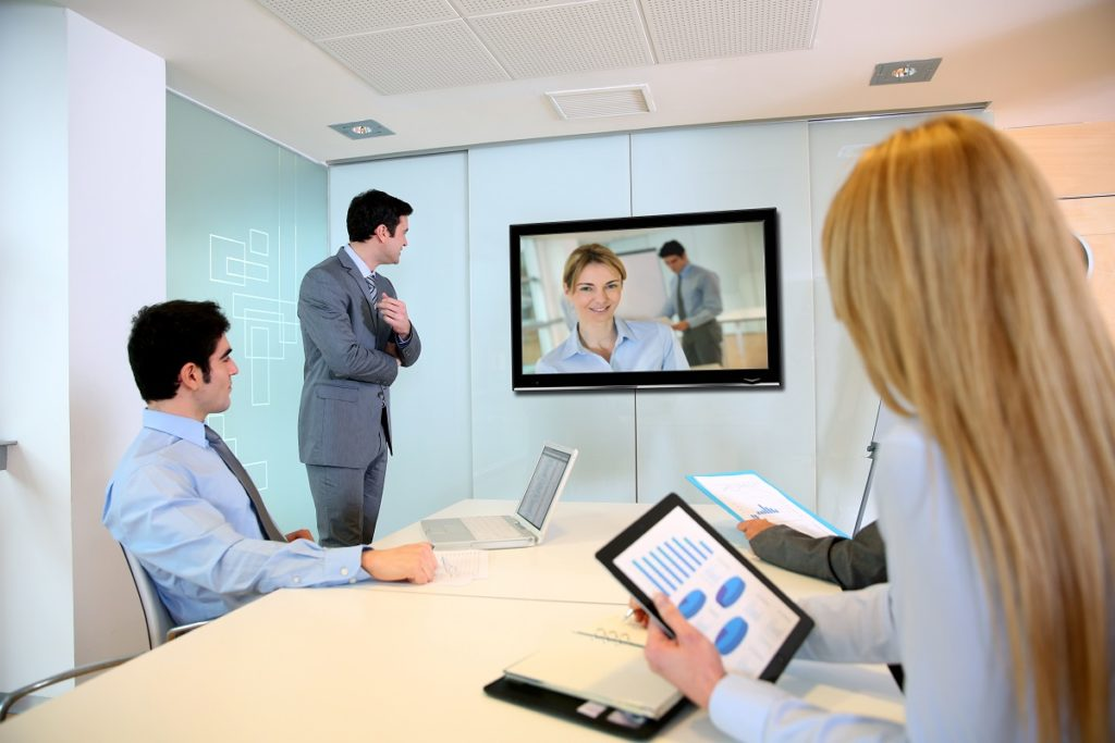 Video conference with clients