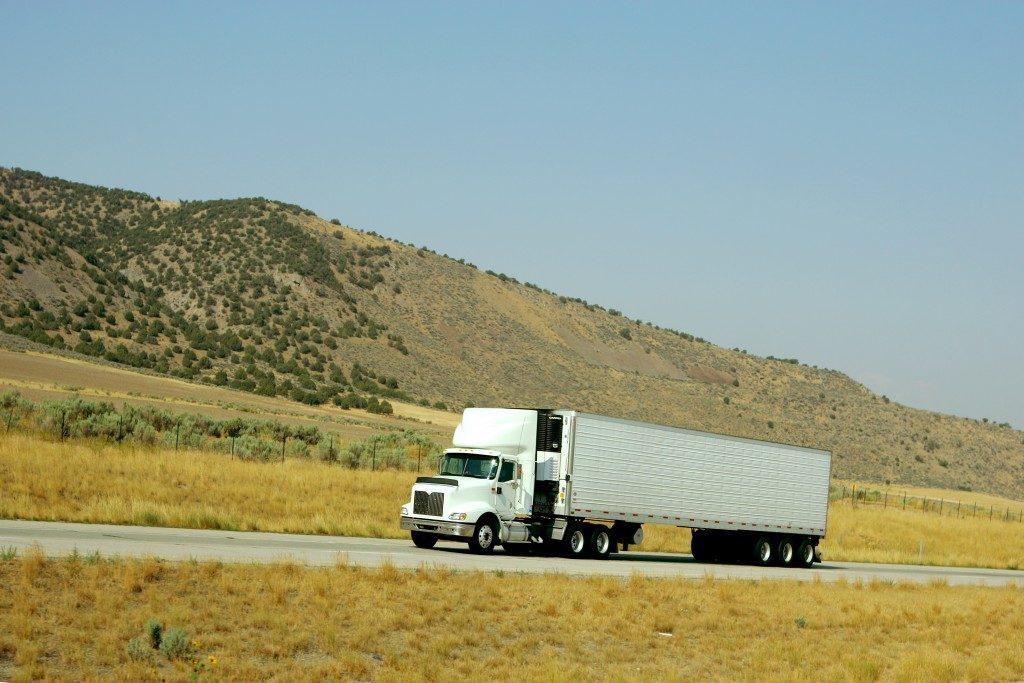 Truck going up a hill