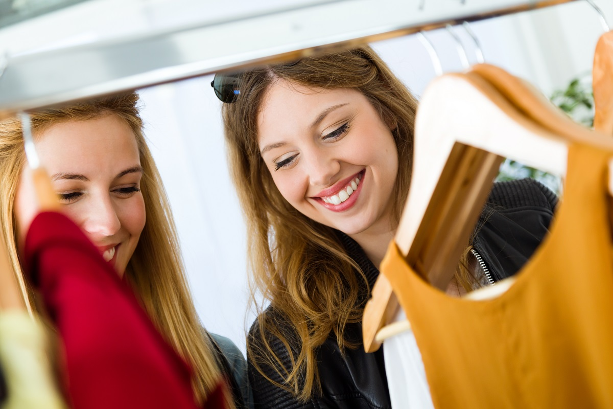 customers shopping