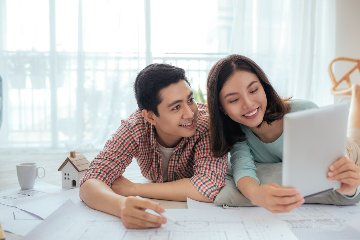 couple reviewing loan agreement