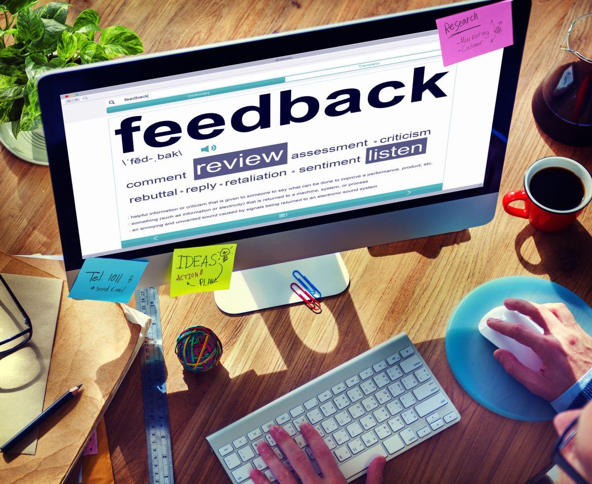 feedback on desktop monitor